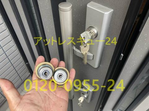 玄関開錠カギ交換