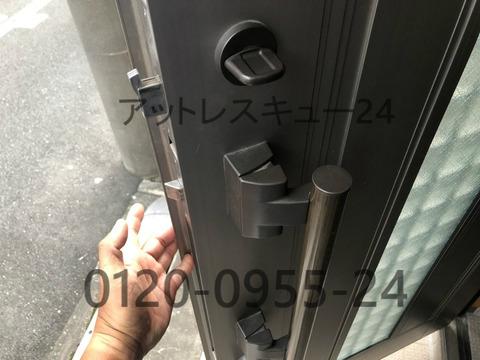 玄関ドア2か所ロック無傷開錠