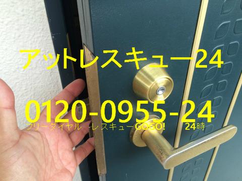 賃貸マンション玄関ドア 鍵開けPRディンプルキー