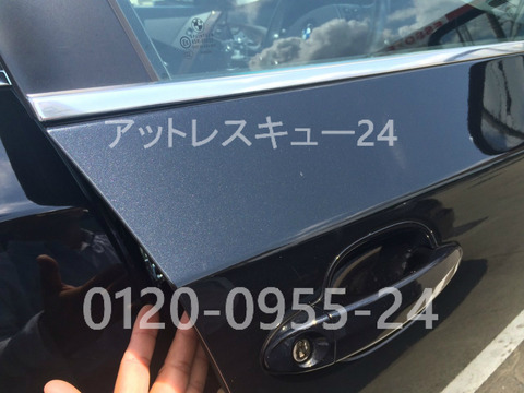 BMW525i鍵の車内インロック開錠E60