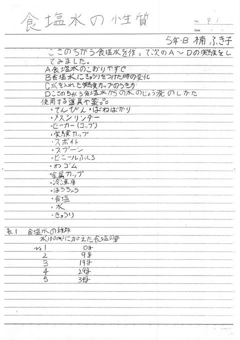 食塩水の性質ふき子小学5年_1
