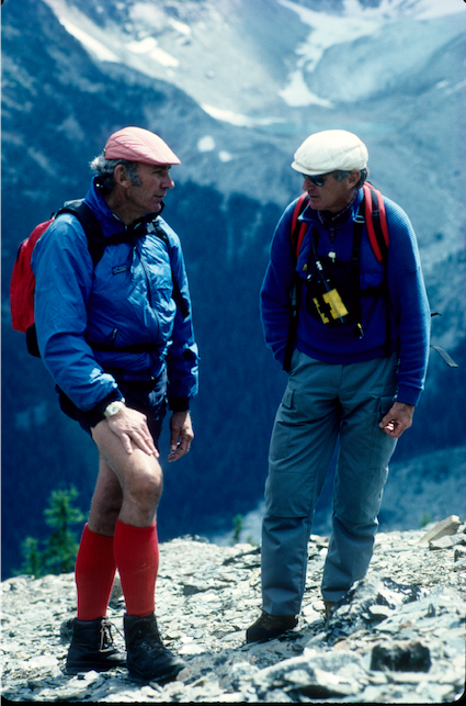 1978-Bugaboos-Hans-Gmoser-and-Arthur-Tauck-H.-Peter-Wingle-photo