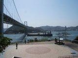 関門海峡「壇ノ浦」パーキングから門司港を望む