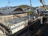 基礎コンクリートの打設