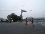都道府県対抗男子駅伝で走る広島県の最終ランナー