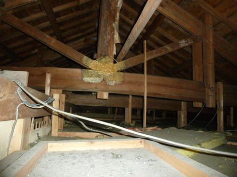 アラミド繊維の小屋束補強