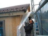 透湿防水シートの施工