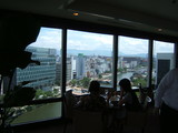 レストランから眺める博多の街
