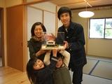 家族とお引渡し模型