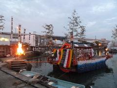 江波港の夏祭り