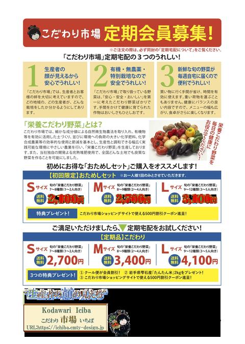 01_販促チラシ_定期会員募集の表