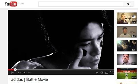 香川真司、内田篤人「Battle Movie」adidasCMの画像。