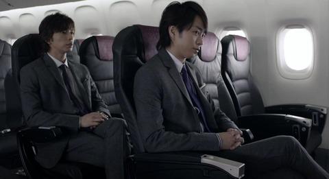 嵐 JAL SKY NEXT CM「新シート」篇の画像。