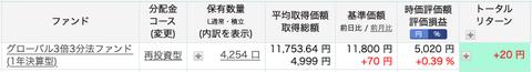 楽天証券:グローバル3倍3分法ファンド