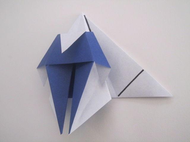 すべての折り紙 折り紙 果物 折り方 : ... 折り紙のサンタクロース/折り