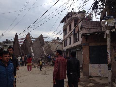 ネパールで巨大地震発生