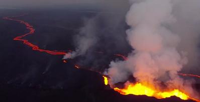 アイスランドの火山流