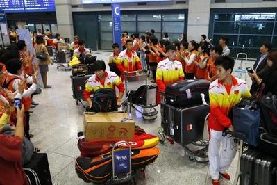 中国選手の移動