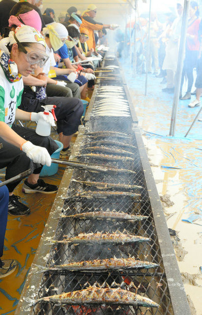 秋刀魚炭火焼き