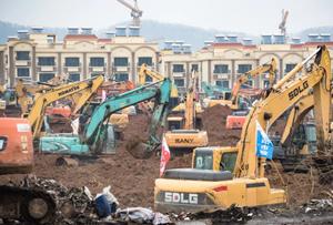 武漢で巨大病院の建設を開始