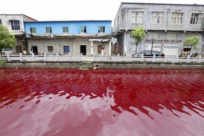 中国の紅い川