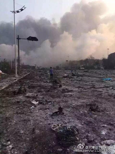 中国天津の爆発現場の街が凄い2
