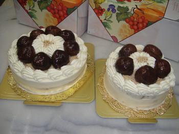 注文マロンケーキ