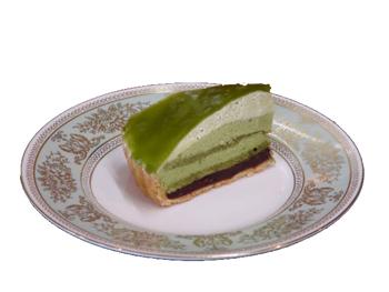 抹茶ムースタルトカット
