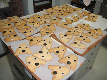 ベドクッキーたくさん