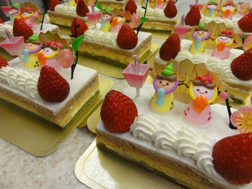 菱餅ケーキ