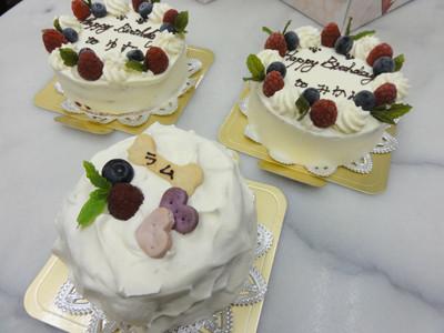 ラム、みかん、ゆずケーキ