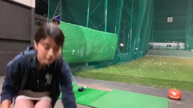 田中萌アナ安藤萌々アナ(新人)100球打ち込み生配信 14