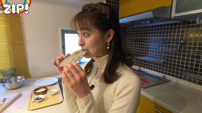 後呂有紗アナとクッキングデート「ごはんでおせんべい作ってみた」19
