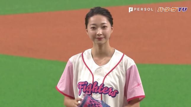 畠山愛理 日本ハム-巨人 始球式 17