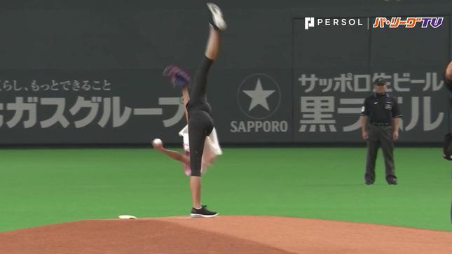 畠山愛理 日本ハム-巨人 始球式 22