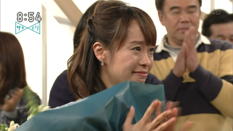 片山千恵子アナ 「サキどり↑」 涙の最終回!