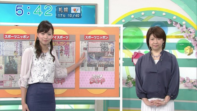 出口亜梨沙 斎藤真美 おはようコールABC 6
