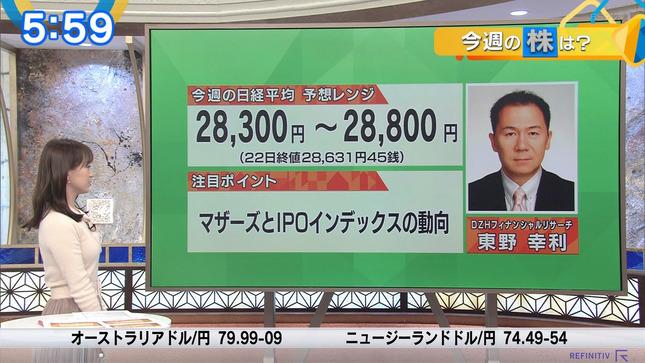 片渕茜 ニュースモーニングサテライト 3