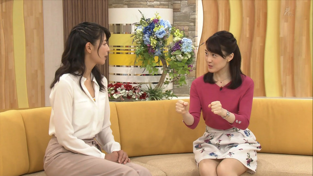 江崎史恵アナ ミニスカ太もも▼ゾーン!