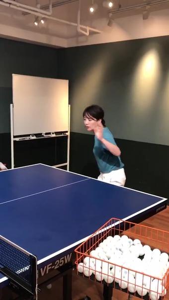 大橋未歩 Twitter 卓球 4
