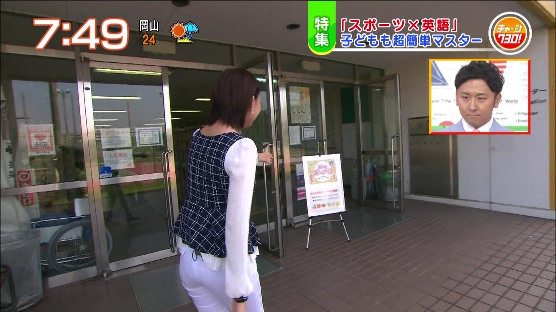 白石小百合アナ パン線・谷間チラ・ブラ透けの大サービス☆☆