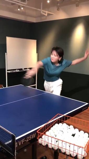 大橋未歩 Twitter 卓球 8