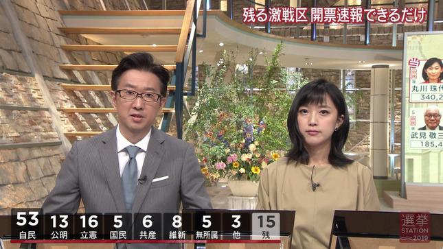 竹内由恵 報道ステーション 選挙ステーション2019 8