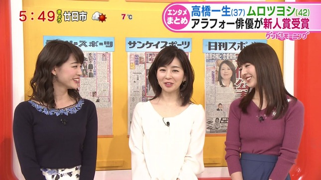 新井恵理那 グッド!モーニング 松尾由美子 福田成美 6