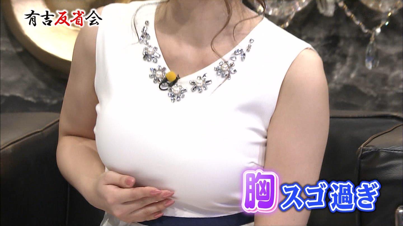 美馬怜子アナ 美巨乳☆ノースリーブ☆