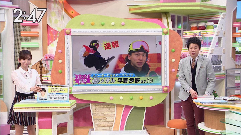 皆藤愛子アナ ミニスカ・シースルー!