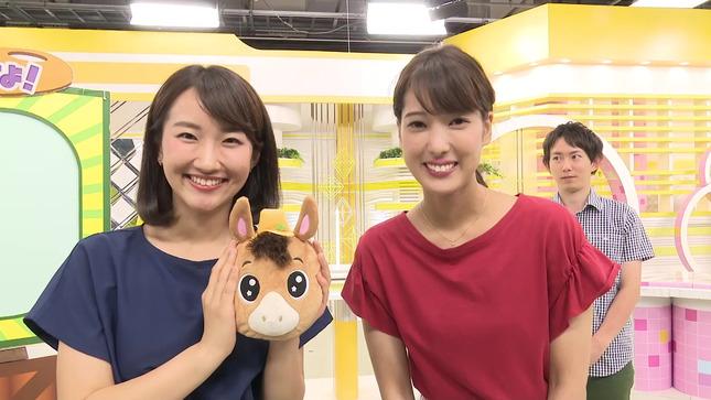 久保朱莉アナ 中腰でお絵かき、キワドく胸チラ!!【GIF動画あり】