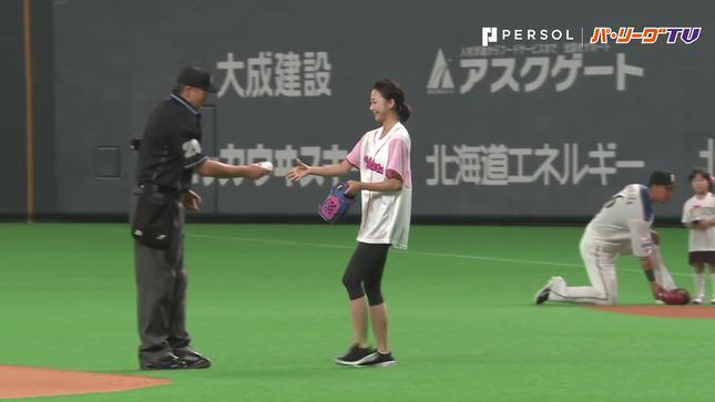 畠山愛理 日本ハム-巨人 始球式 14