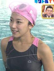 竹内由恵アナのおっぱい浮き出た競泳水着キャプ