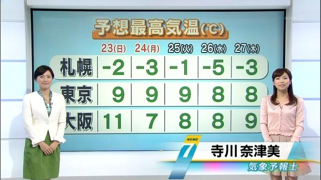 寺川奈津美と小郷知子 NHKニュース7